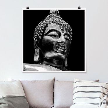 Poster - Buddha Statue Gesicht - Quadrat 1:1