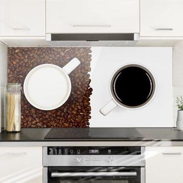 Spritzschutz Glas - Milchkaffee - Querformat - 2:1