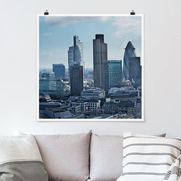 Poster - London Skyline - Quadrat 1:1