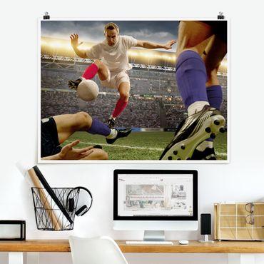 Poster - Fußballtaktik - Querformat 3:4