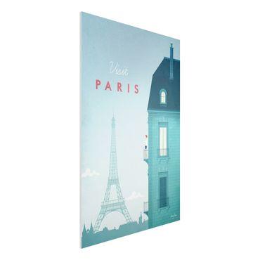 Forex Fine Art Print - Reiseposter - Paris - Hochformat 3:2