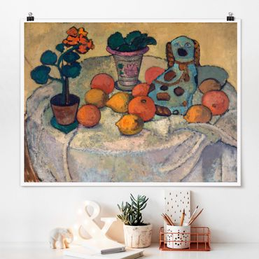 Poster - Paula Modersohn-Becker - Stillleben mit Orangen - Querformat 3:4