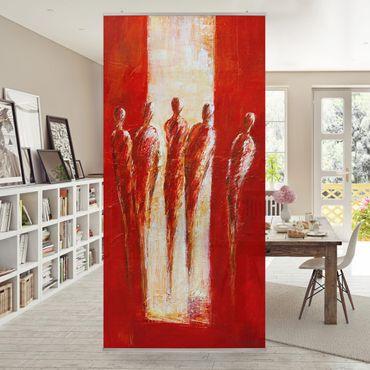 Raumteiler - Petra Schüßler - Fünf Figuren in Rot 02 250x120cm