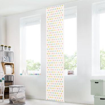Schiebegardinen Set - Punkte Pastell - Flächenvorhänge