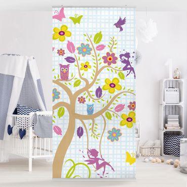 Raumteiler Kinderzimmer - No.BP27 Feen Garten 250x120cm