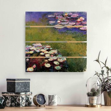 Holzbild - Claude Monet - Seerosen - Quadrat 1:1