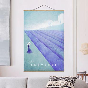 Stoffbild mit Posterleisten - Reiseposter - Provence - Hochformat 3:2