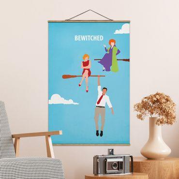 Stoffbild mit Posterleisten - Filmposter Bewitched - Hochformat 3:2