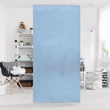 Raumteiler - Pastellblau 250x120cm