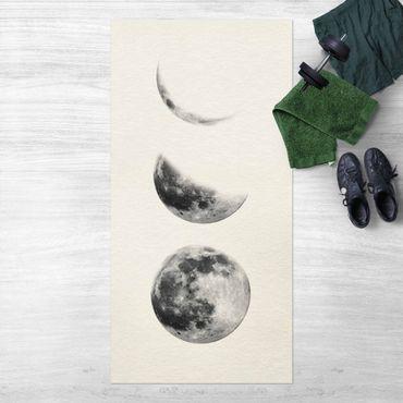 Vinyl-Teppich - Drei Monde - Hochformat 1:2