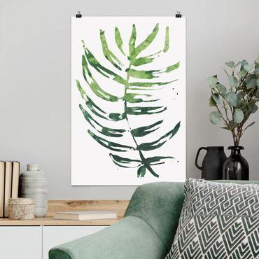 Poster - Tropenblätter Wasserfarbe I - Hochformat 3:2