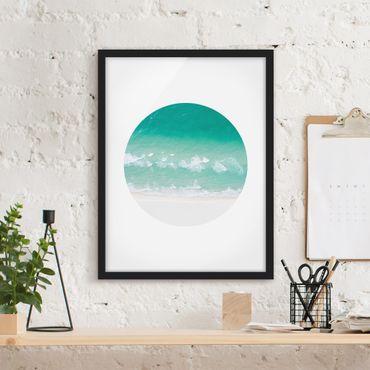 Bild mit Rahmen - Das Meer im Kreis - Hochformat