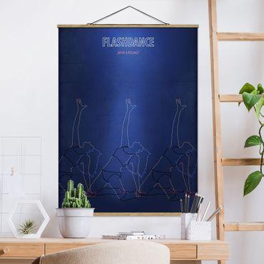 Stoffbild mit Posterleisten - Filmposter Flashdance - Hochformat 3:4