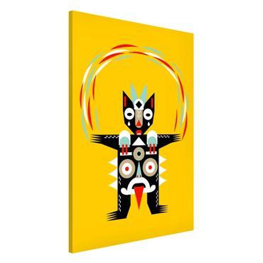 Magnettafel - Collage Ethno Monster - Jongleur - Memoboard Hochformat 3:2