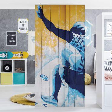 Raumteiler Kinderzimmer - Surfing 250x120cm