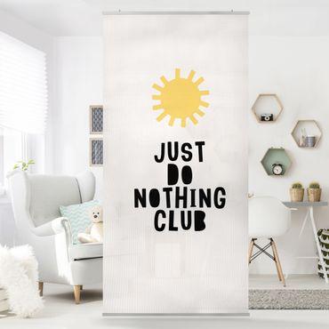 Raumteiler - Do Nothing Club Gelb - 250x120cm