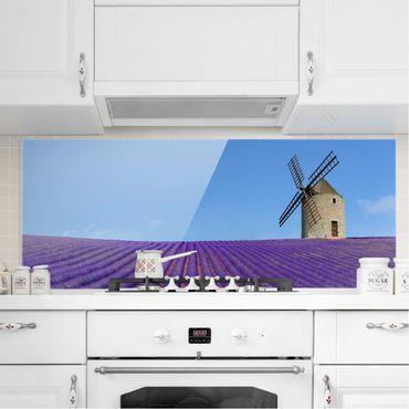 Spritzschutz Glas - Lavendelduft in der Provence - Panorama - 5:2