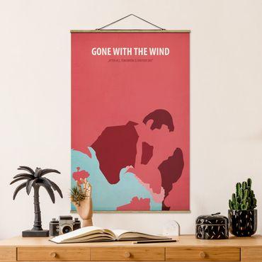 Stoffbild mit Posterleisten - Filmposter Gone with the wind - Hochformat 3:2