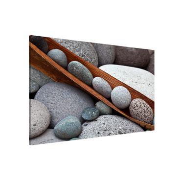 Magnettafel - Stillleben mit grauen Steinen - Memoboard Querformat 2:3