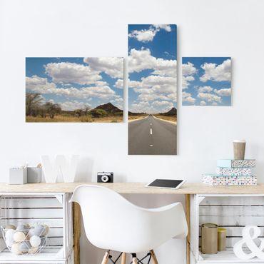 Leinwandbild 3-teilig - Route 66 - Collage 2