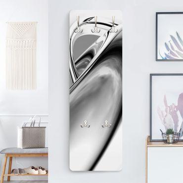Design Garderobe - Drifting II - Weiß Schwarz