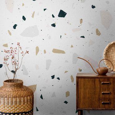 Metallic Tapete  - Detailliertes Terrazzo Muster San Remo