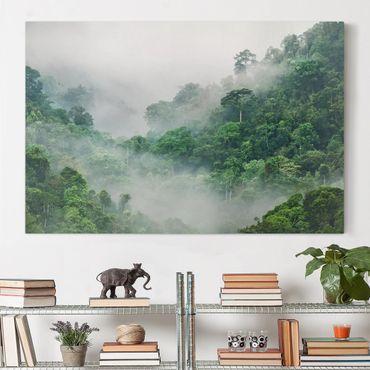 Leinwandbild - Dschungel im Nebel - Querformat 2:3