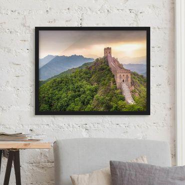 Bild mit Rahmen - Die unendliche Mauer von China - Querformat