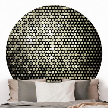 Runde Tapete selbstklebend - Disco Background