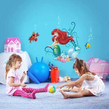 Disney Wandtattoo - Arielle, die Meerjungfrau - Komar Deco-Sticker
