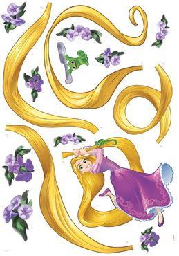 Disney Wandtattoo Kinderzimmer - Rapunzel - Komar Deco-Sticker