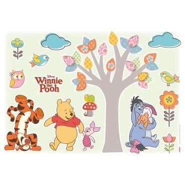 Disney Wandtattoo - Winnie Pooh Set - Komar Deco-Sticker