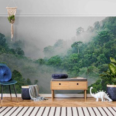 Metallic Tapete  - Dschungel im Nebel