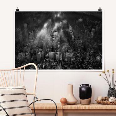 Poster - Sonnenlicht über New York City - Querformat 2:3