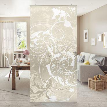 Raumteiler - Perlmutt Ornament Design 250x120cm