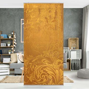 Raumteiler - Goldene Flora 250x120cm