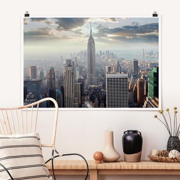 Poster - Sonnenaufgang in New York - Querformat 2:3