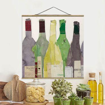 Stoffbild mit Posterleisten - Wein & Spirituosen III - Quadrat 1:1