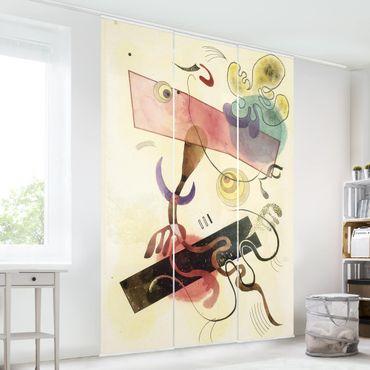 Schiebegardinen Set - Wassily Kandinsky - Taches: Verte et Rose (Flecken: Grün und Rosa) - Flächenvorhänge
