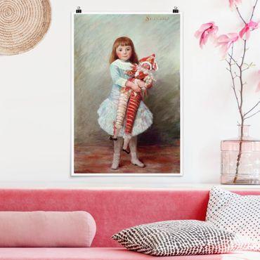 Poster - Auguste Renoir - Suzanne mit Harlekinpuppe - Hochformat 3:2