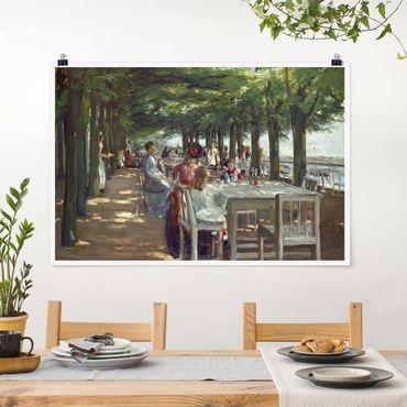 Poster - Max Liebermann - Terrasse des Restaurants Jacob - Querformat 2:3