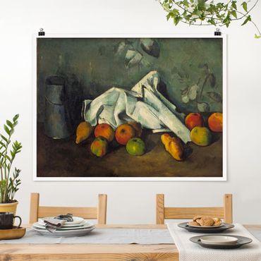 Poster - Paul Cézanne - Milchkanne und Äpfel - Querformat 3:4