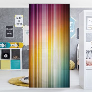 Raumteiler - Rainbow Light 250x120cm