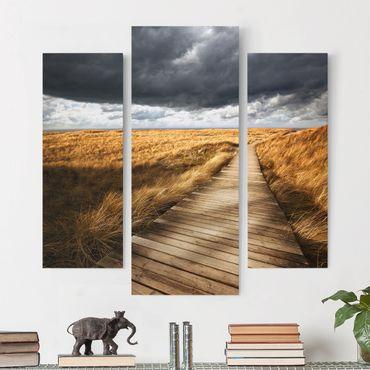 Leinwandbild 3-teilig - Weg in den Dünen - Galerie Triptychon