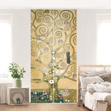 Schiebegardinen Set - Gustav Klimt - Der Lebensbaum - Flächenvorhänge
