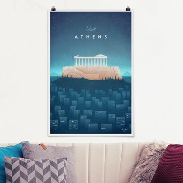 Poster - Reiseposter - Athen - Hochformat 3:2