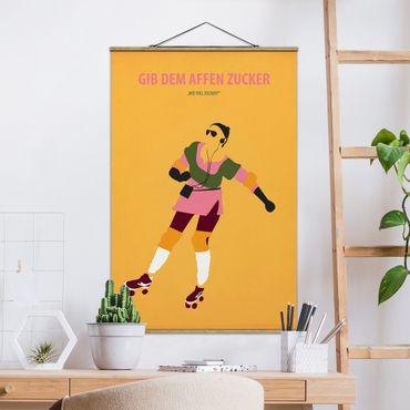 Stoffbild mit Posterleisten - Filmposter Gib dem Affen Zucker - Hochformat 3:2