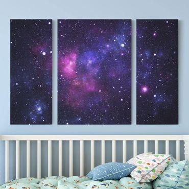 Leinwandbild 3-teilig - Galaxie - Triptychon