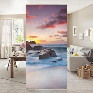 Raumteiler - Am Meer in Cornwall 250x120cm