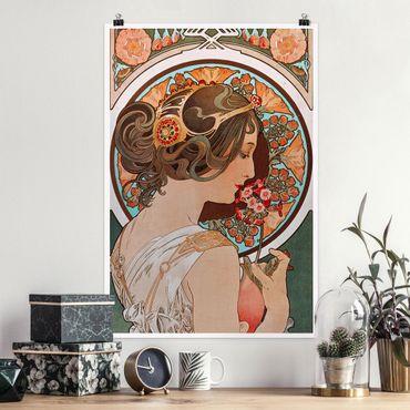 Poster - Alfons Mucha - Schlüsselblume - Hochformat 3:2